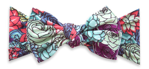 Baby Bling Agave Garden Printed Knot Headband Basically Bows & Bowties
