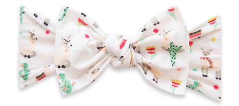 Baby Bling Alpaca Party Printed Knot Headband Basically Bows & Bowties