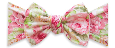 Baby Bling Bed of Roses Printed Knot Headband Basically Bows & Bowties
