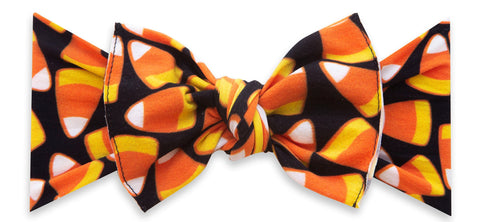 Baby Bling Candy Corn Printed Knot Headband Basically Bows & Bowties