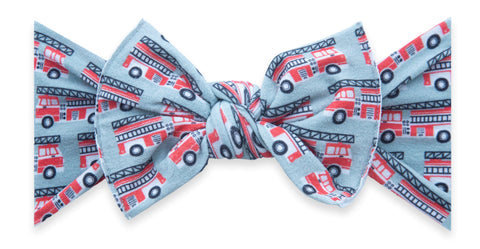 Baby Bling Firetrucks Printed Knot Headband