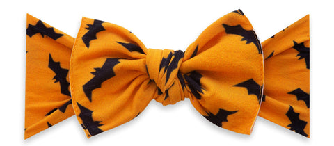 Baby Bling Freakin' Bats Printed Knot Headband Basically Bows & Bowties