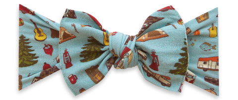 Baby Bling Goin' Campin' Printed Knot Headband Basically Bows & Bowties