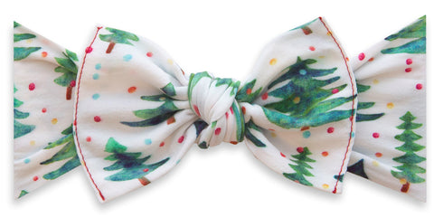 Baby Bling Gumdrop Pine Printed Knot Headband Basically Bows & Bowties