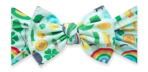 Baby Bling Paddy's Party Printed Knot Headband