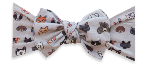 Baby Bling Pet Pals Printed Knot Headband Basically Bows & Bowties