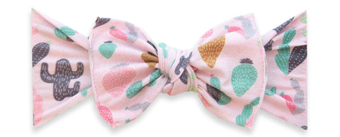 Baby Bling Pink Desert Printed Knot Headband Basically Bows & Bowties