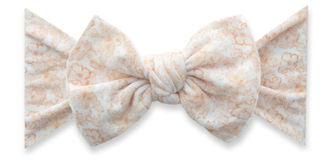 Baby Bling Pretty in Peach Printed Knot Headband