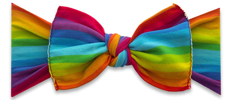 Baby Bling Rainbow Bright Printed Knot Headband *Basically Bows & Bowties EXCLUSIVE*