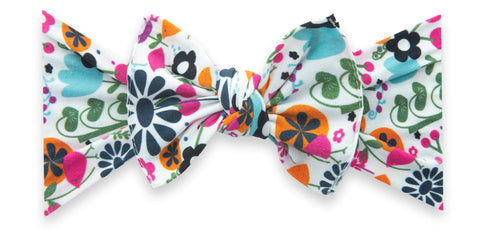 Baby Bling Scandinavian Hippie Printed Knot Headband Basically Bows & Bowties