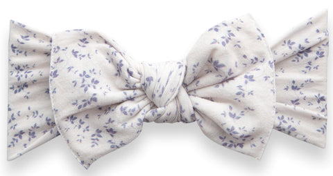 Baby Bling Blue Vines Printed Knot Headband