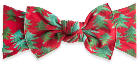 Baby Bling Holiday Pine Printed Knot Headband