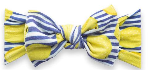 Baby Bling Lemonade Printed Knot Headband