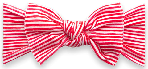 Baby Bling Red Painted Stripe Printed Knot Headband