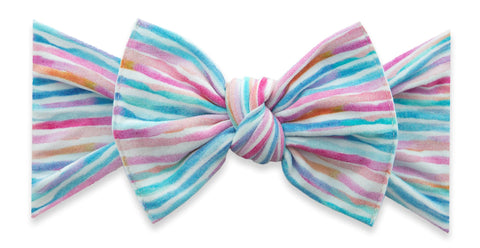 Baby Bling Pastel Stripe Printed Knot Headband