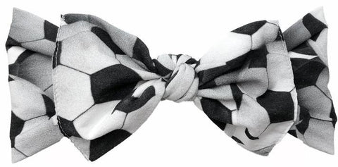 Baby Bling Soccer Printed Knot Headband - Basically Bows & Bowties