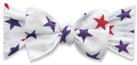 Baby Bling USA Stars Printed Knot Headband
