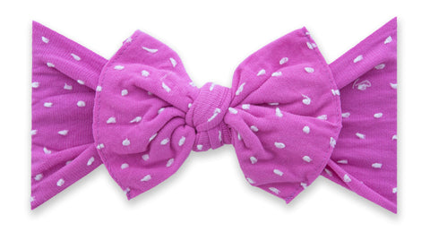 Baby Bling Barbie Shabby Dot Patterned Knot Headband