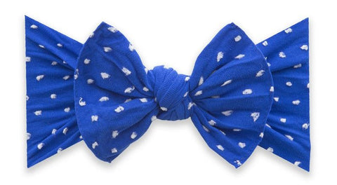 Baby Bling Royal Shabby Dot Patterned Knot Headband Basically Bows & Bowties