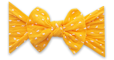 Baby Bling Sunshine Shabby Dot Patterned Knot Headband