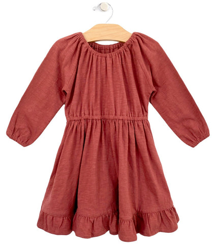City Mouse Paprika Slub Cotton Dress