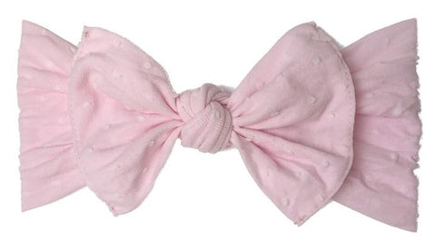 Baby Bling Light Pink Shabby Dot Patterned Knot Headband Basically Bows & Bowties