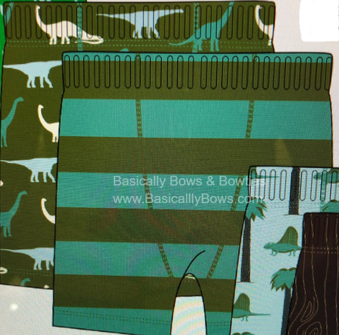 KicKee Pants Moss Sauropods & Paleontology Fauna Stripe Boxer Briefs Set