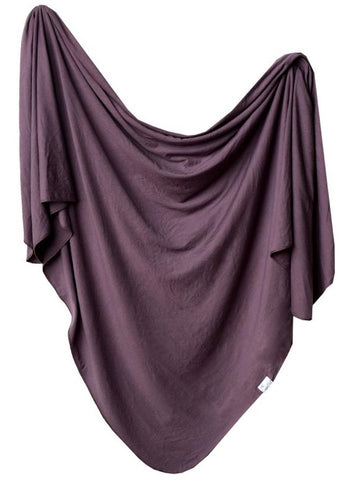 Copper Pearl Plum Knit Swaddle Blanket Basically Bows & Bowties