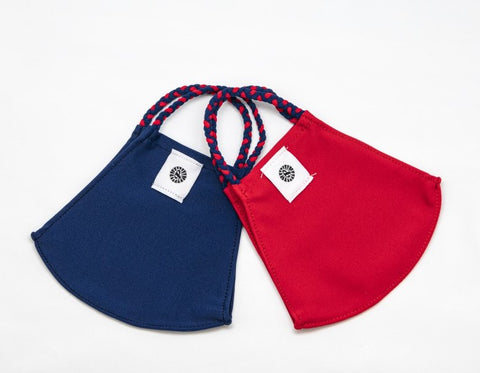 Face Mask by Pomchies - Navy / Red