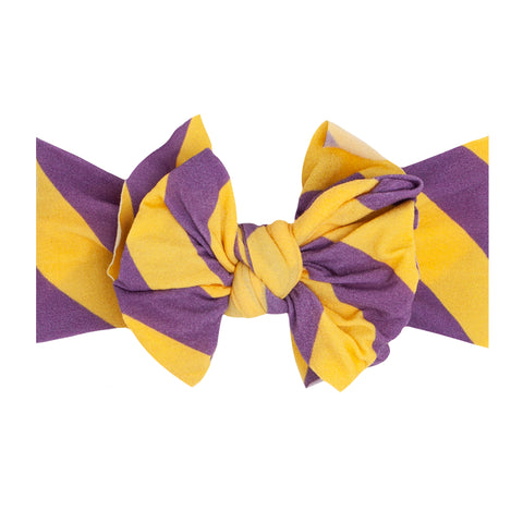 Baby Bling Purple / Gold Printed FAB-BOW-LOUS