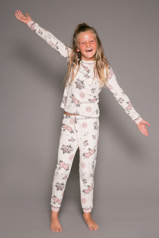 PJ Salvage Forever & Ever Thermal Pajama Set