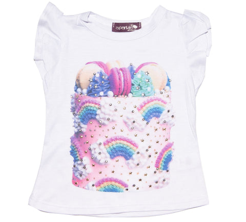 Sparkle by Stoopher Cake Goals Ruffle Sleeve S/S Tee