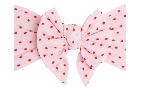 Baby Bling Pink w/Red Shabby Dot DEB Headband