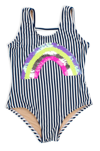 Shade Critters Flip Sequin Rainbow Stripe One Piece
