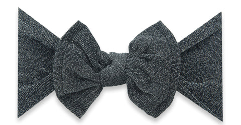 Baby Bling Black Shimmer Knot Headband Basically Bows & Bowties