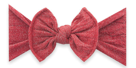 Baby Bling Red Shimmer Knot Headband Basically Bows & Bowties