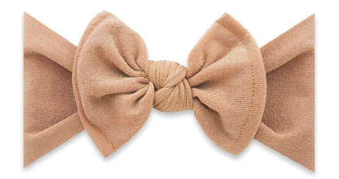 Baby Bling Rose Gold Shimmer Knot Headband Basically Bows & Bowties
