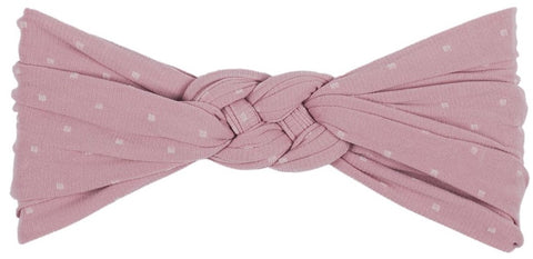 Baby Bling Mauve Dot Sailor Knot - Basically Bows & Bowties