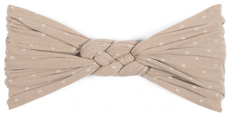 Baby Bling Taupe Dot Sailor Knot - Basically Bows & Bowties