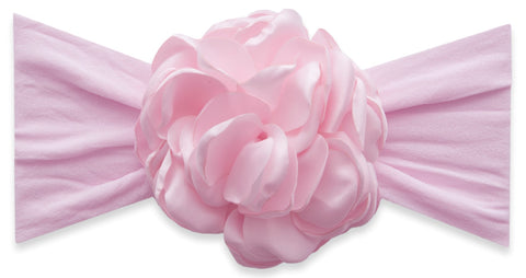 Baby Bling Pink Silk Ruffle Flower Headband