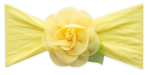 Baby Bling Lemon Small Rosette w/Leaf Headband