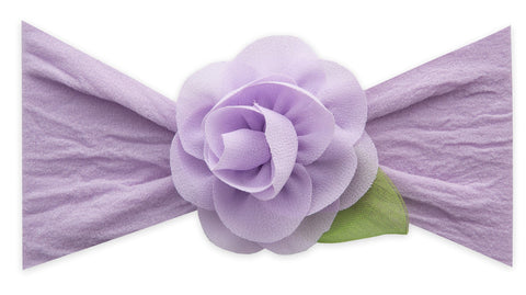Baby Bling Light Orchid Small Rosette w/Leaf Headband