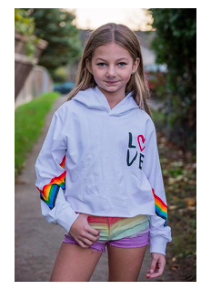 Tweenstyle by Stoopher Rainbow Love Hoodie
