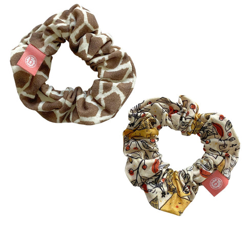 Baby Bling Fall Animals Scrunchie 2 Pack