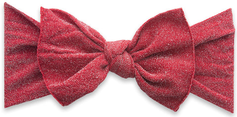 Baby Bling Shimmer Knot Headband-Red