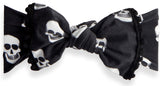 Baby Bling Skelly Pom Trimmed Knot Headband - Basically Bows & Bowties