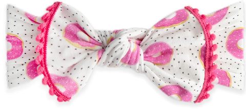 Baby Bling Sprinklicious Pom Trimmed Knot Headband - Basically Bows & Bowties