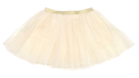 Sweet Wink Ivory with Gold Glitter Tutu
