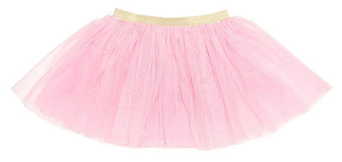 Sweet Wink Pink with Gold Glitter Tutu