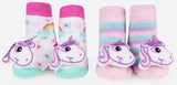 Waddle Unicorn Rattle Sock Set